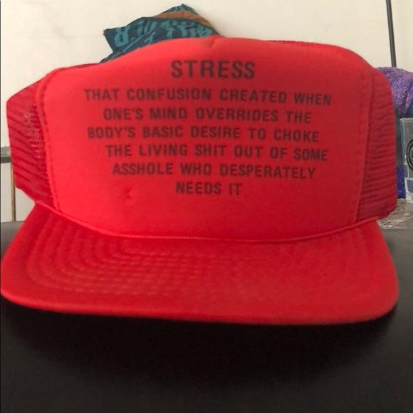 accessories vintage stress definition truckers hat poshmark